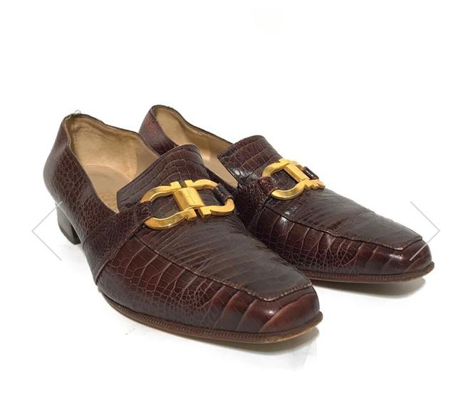 Item - Brown with Gold Buckle Sneakers Size US 8 Narrow (Aa, N)