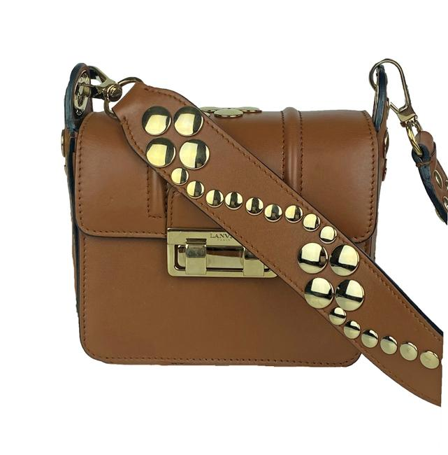 Item - Jiji Studded Brown Leather Cross Body Bag