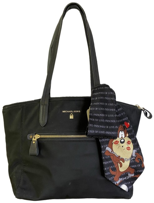 Item - W Large W/ Looney Tunes Tie Sash Black Nylon Tote