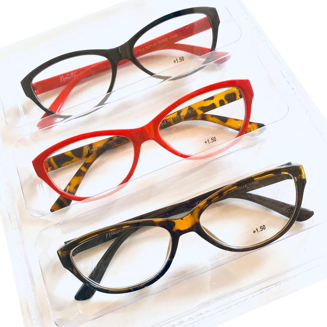 Item - Red Black Brown Premium Collection Reading Glasses 1.50 Dopter Readers Set Of 3