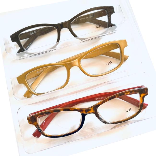 Item - Gold Red Black Premium Collection Reading Glasses 2.50 Dopter Readers Set Of 3