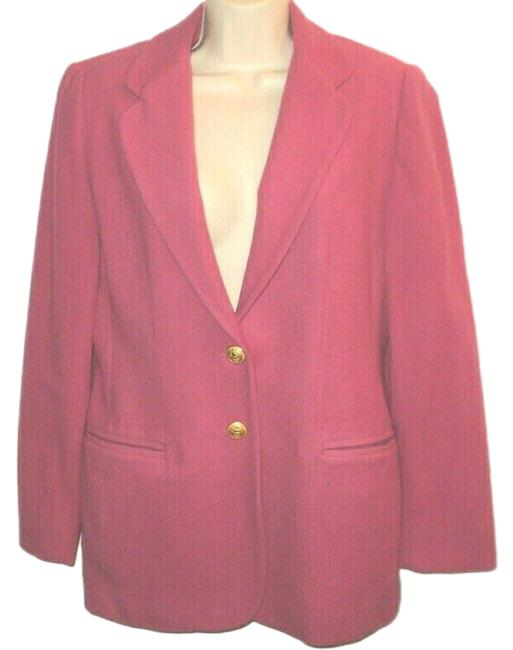 Item - Pink But Runs Larger Vintage Notched Collar Buttoned Lined Blazer Size 4 (S)