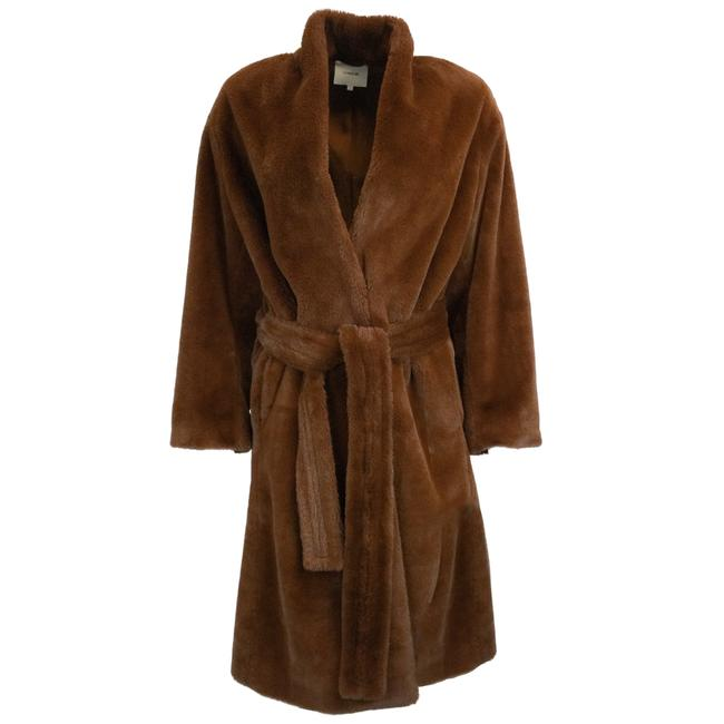 Item - Mahogany Belted Faux Long Coat Size 4 (S)