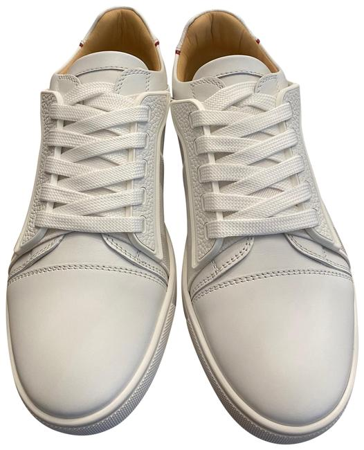 Item - White/Red Elastikid Leather Sole Low-top Sneakers Size US 5 Regular (M, B)