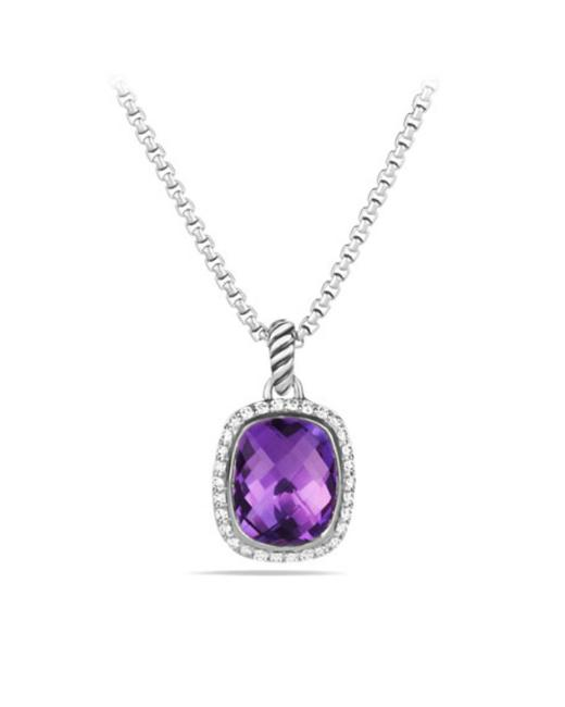 David Yurman Amethyst Noblesse Diamond And Necklace David Yurman Amethyst Noblesse Diamond And Necklace Image 1