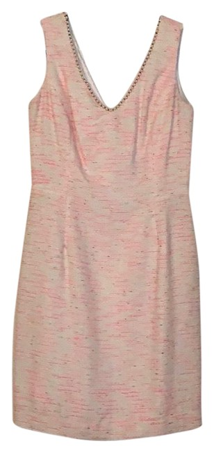 Item - Pink Cream and Gold Laidley Short Cocktail Dress Size 6 (S)