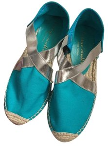 Bettye Muller Chanel Espadrille Wedges Summer Flats Petite 5.5 6 5 35.5 36 35 turquoise Sandals