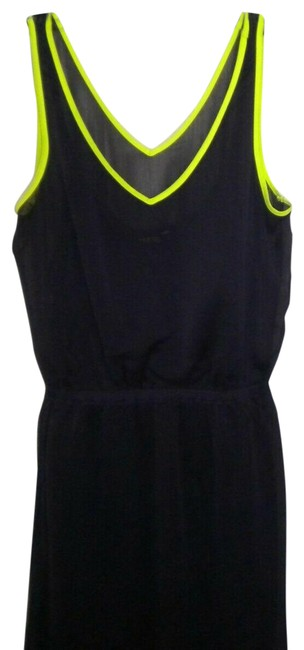 Item - Plum/Lime Women Small Short Casual Dress Size 4 (S)