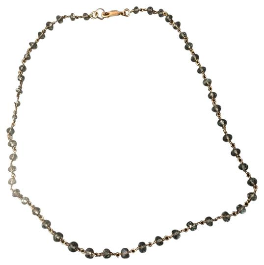 Other Blue Gem And Gold Necklace