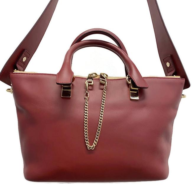 Item - Baylee Two-tone Red Leather Tote