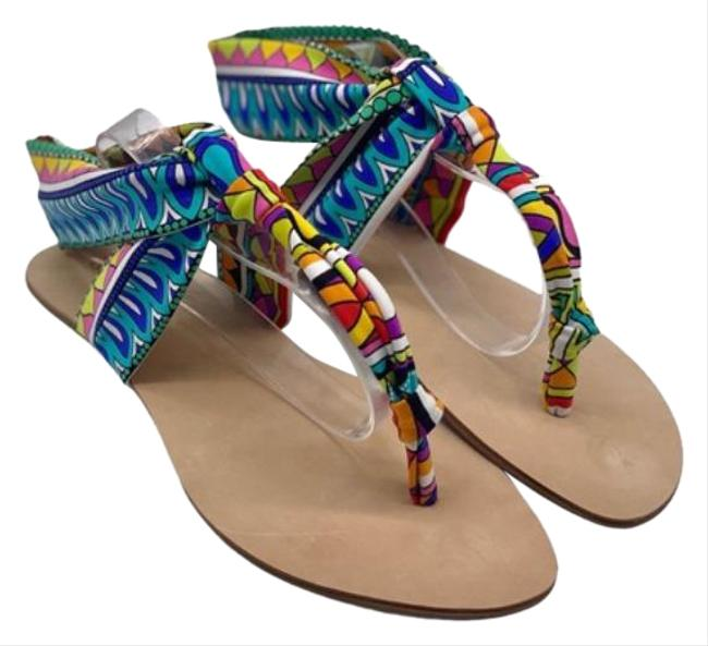 Item - Purple Blue Titus Sandals Size US 7.5 Regular (M, B)