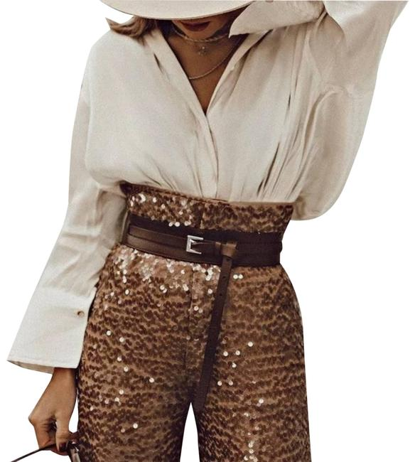 Item - Brown | High-waisted Sequin Pants Size 4 (S, 27)