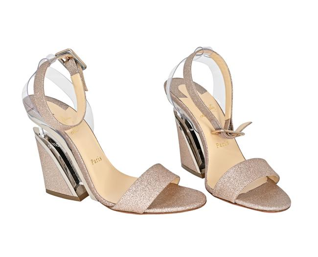 Item - Bronze Glitter Levitalo 100 Ankle Strap Wedge Sandals Size EU 38 (Approx. US 8) Regular (M, B)