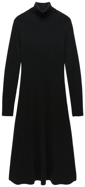 Item - Black Limited Edition Wool Blend Knit Long Casual Maxi Dress Size 4 (S)