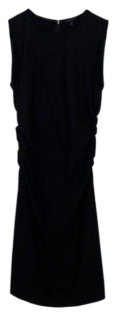Item - Black Good Wool Ruched Short Work/Office Dress Size 4 (S)