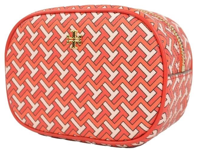 Item - Red T Tile Zig Zag Travel Cosmetic Bag