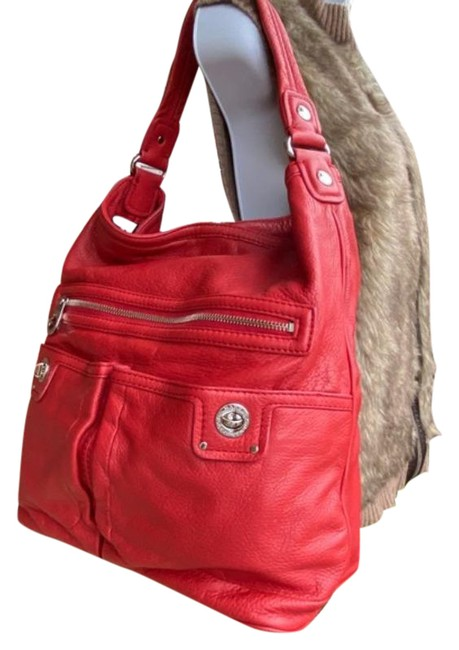 Item - Large Red Leather Tote