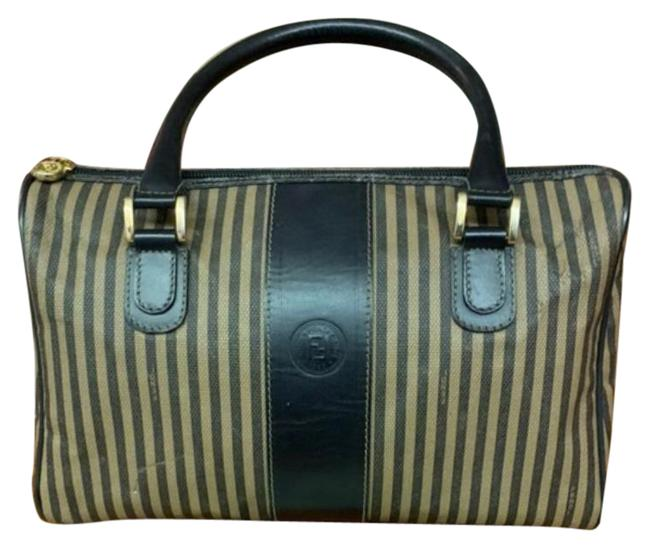 Item - Boston Pag Black Tan Canvas Satchel