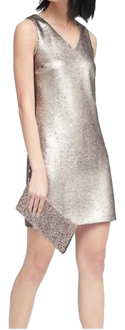 Item - Gold Sequin V-neck Shift Mid-length Night Out Dress Size 8 (M)