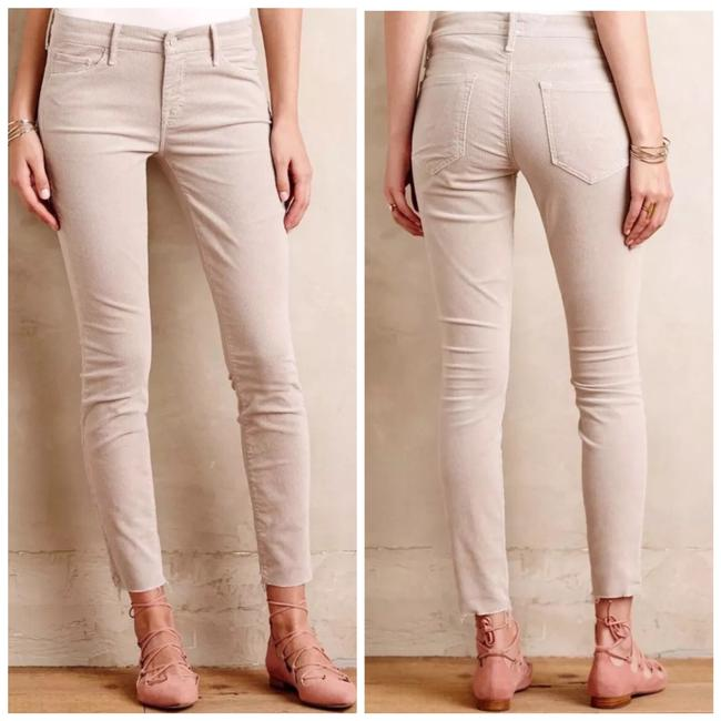 Item - White Cream Light Wash Hopscotch Looker with Ankle Fray Skinny Jeans Size 0 (XS, 25)