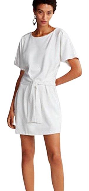 Item - White T- Short Casual Dress Size 4 (S)
