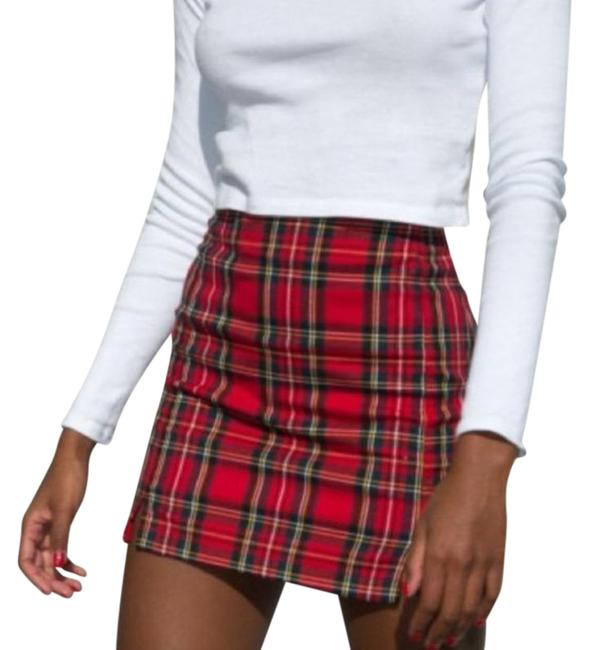 Item - Red Classic Plaid Skirt Size 4 (S, 27)