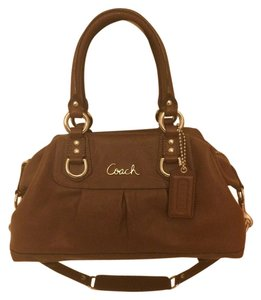 Coach Small Satchel in Leather brown