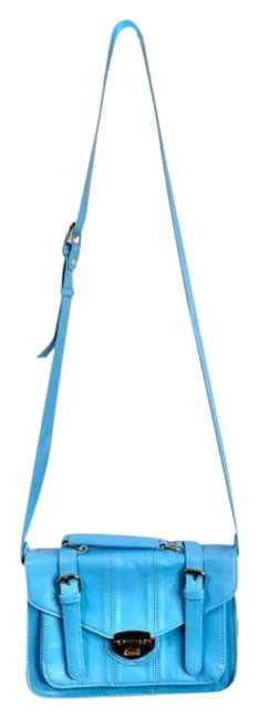 Item - Blue Silver Faux Leather Shoulder Bag