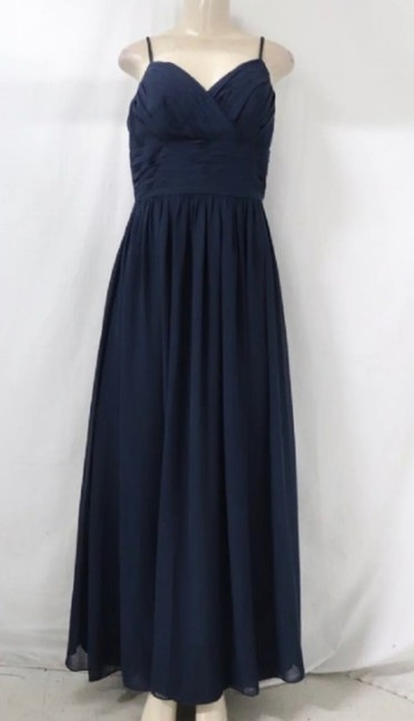 Item - Blue Navy Formal Bridesmaid/Mob Dress Size 8 (M)