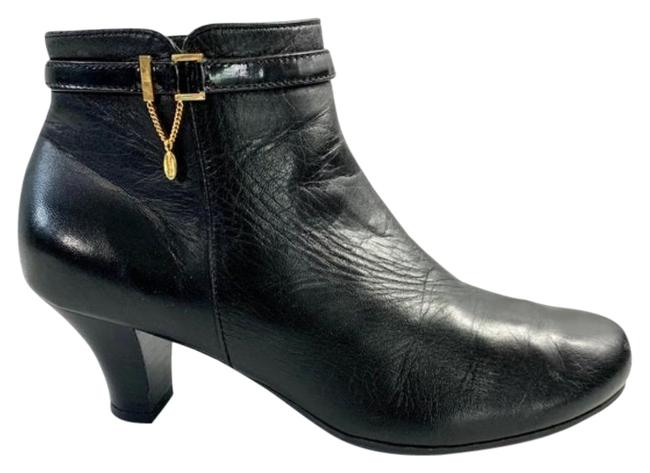Item - Black Leather Gold Boots/Booties Size US 5.5 Regular (M, B)