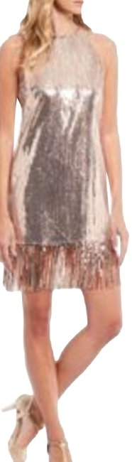 Item - Rose Gold Sparkle Cocktail Party Large Short Night Out Dress Size 12 (L)