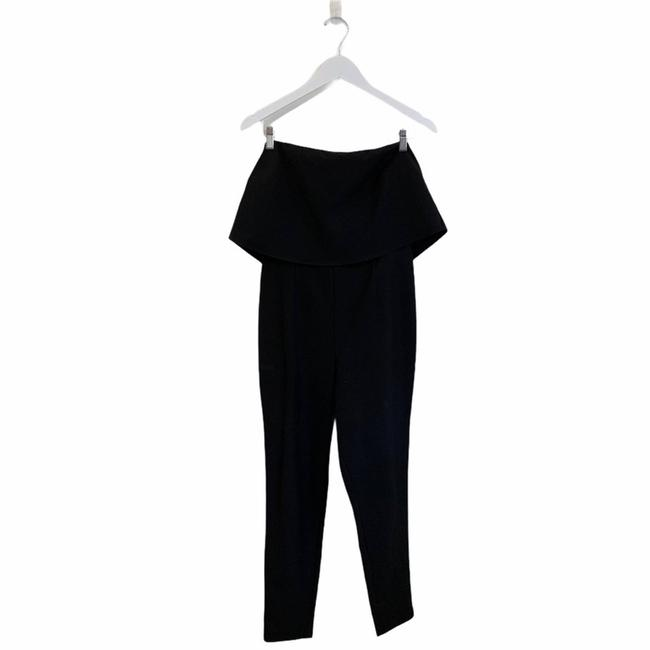 Missguided Black Down Tube Fashion Classy Size 8 Romper/Jumpsuit Missguided Black Down Tube Fashion Classy Size 8 Romper/Jumpsuit Image 1