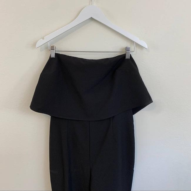 Missguided Black Down Tube Fashion Classy Size 8 Romper/Jumpsuit Missguided Black Down Tube Fashion Classy Size 8 Romper/Jumpsuit Image 3