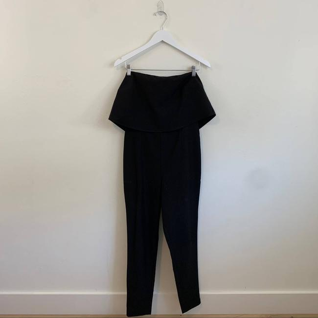 Missguided Black Down Tube Fashion Classy Size 8 Romper/Jumpsuit Missguided Black Down Tube Fashion Classy Size 8 Romper/Jumpsuit Image 4