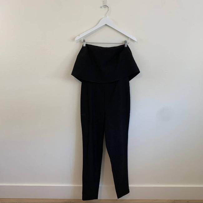 Missguided Black Down Tube Fashion Classy Size 8 Romper/Jumpsuit Missguided Black Down Tube Fashion Classy Size 8 Romper/Jumpsuit Image 6