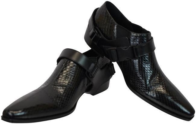 Item - Black 1t304l Snake Leather Harness Strap Chelsea Ankle Boots/Booties Size EU 38 (Approx. US 8) Regular (M, B)