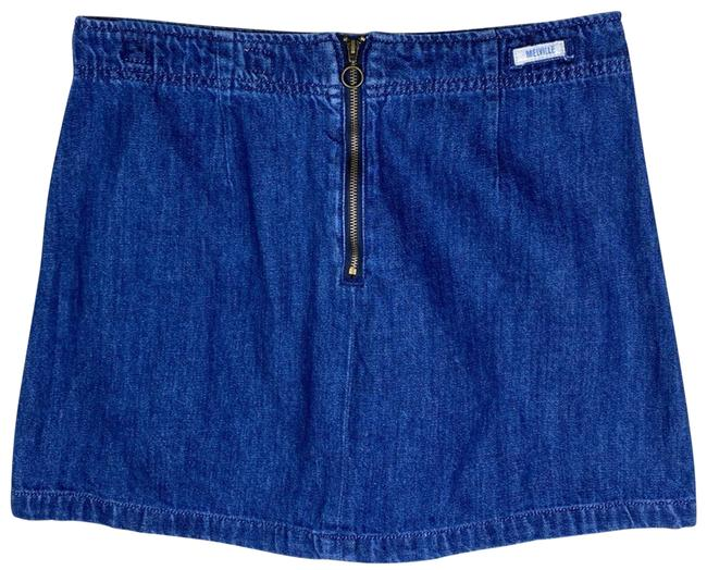Item - Blue Denim Functional Zip Front Accent Skirt Size 6 (S, 28)