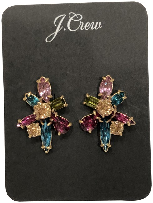 Item - Multicolor Gem Burst Stud Earrings