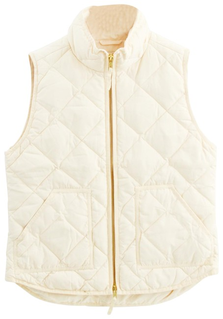 Item - Ivory Quilted #163-64 Vest Size 4 (S)