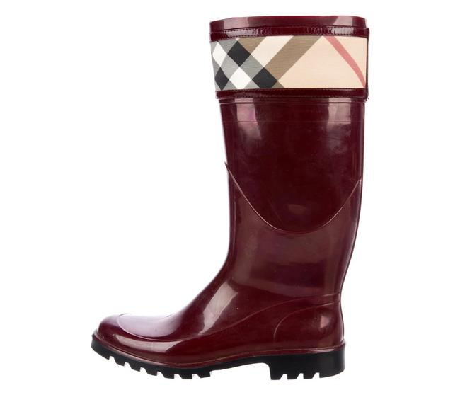 Item - Burgundy Rubber Mid-calf Rain Boots/Booties Size US 6.5 Regular (M, B)