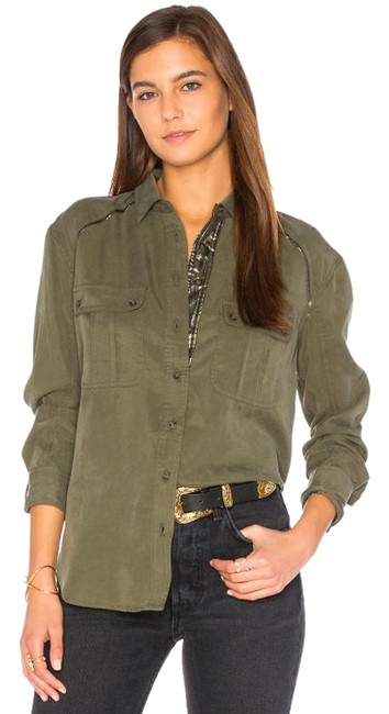 Item - Green | Off Campus In Moss S Button-down Top Size 6 (S)