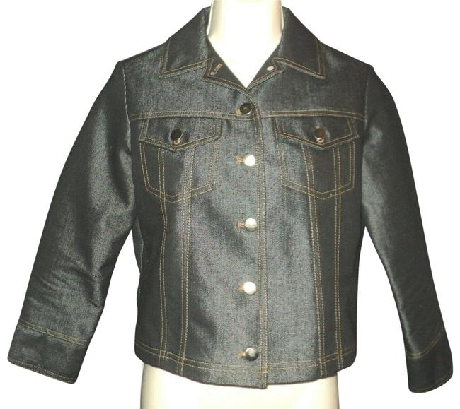 Item - Black Front Buttoned No Lining Vented Sleeves Jacket Size 4 (S)
