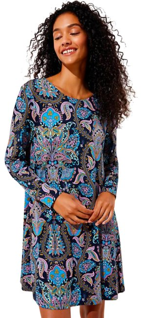 Item - Multicolor Paisley Shift Small Work/Office Dress Size 4 (S)