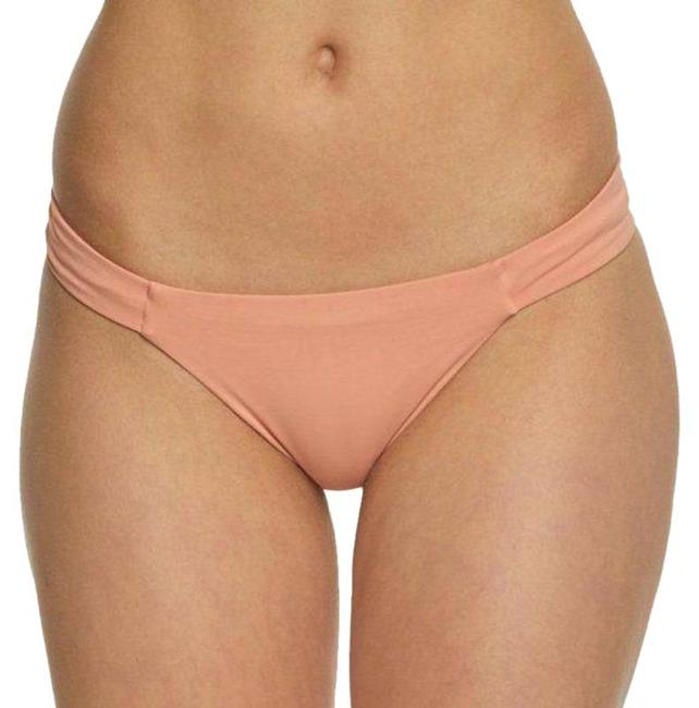 Item - Cream Pink Bella Full In Desert Clay Bikini Bottom Size 12 (L)