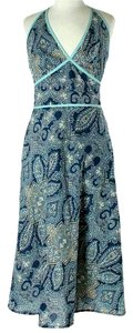 Blue Maxi Dress by BCBGMAXAZRIA Paisley Halter