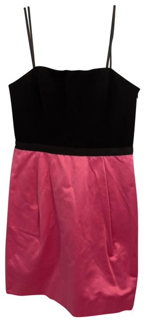 Item - Pink and Black Strapless Short Night Out Dress Size 10 (M)