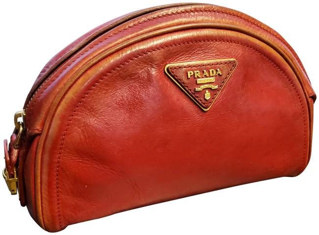Item - Red Pouch Vintage Cosmetic Bag