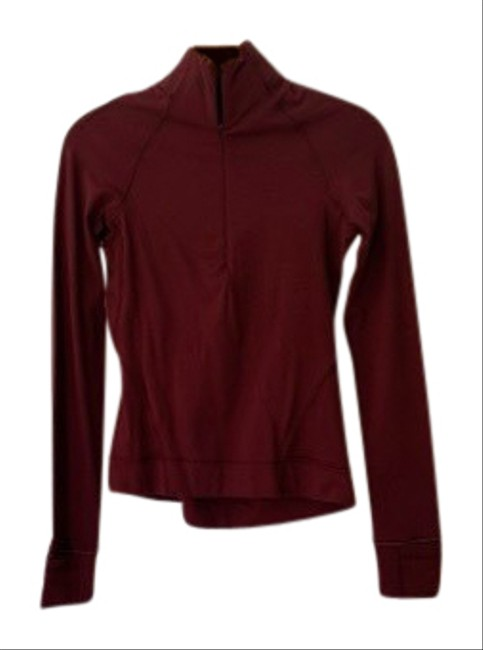 Item - Burgundy Outrun The Elements 1/2 Zip Activewear Top Size 0 (XS)