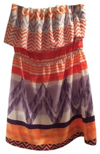 Glam Front Flap Chevron Strapless Dress
