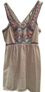 American Eagle Outfitters short dress White Embroidered on Tradesy